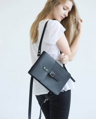 Small Leather Backpack (Black)