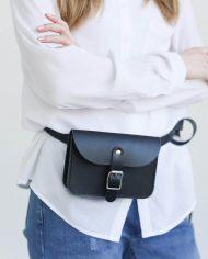 NOSKA Leather Belt Bag (Black)